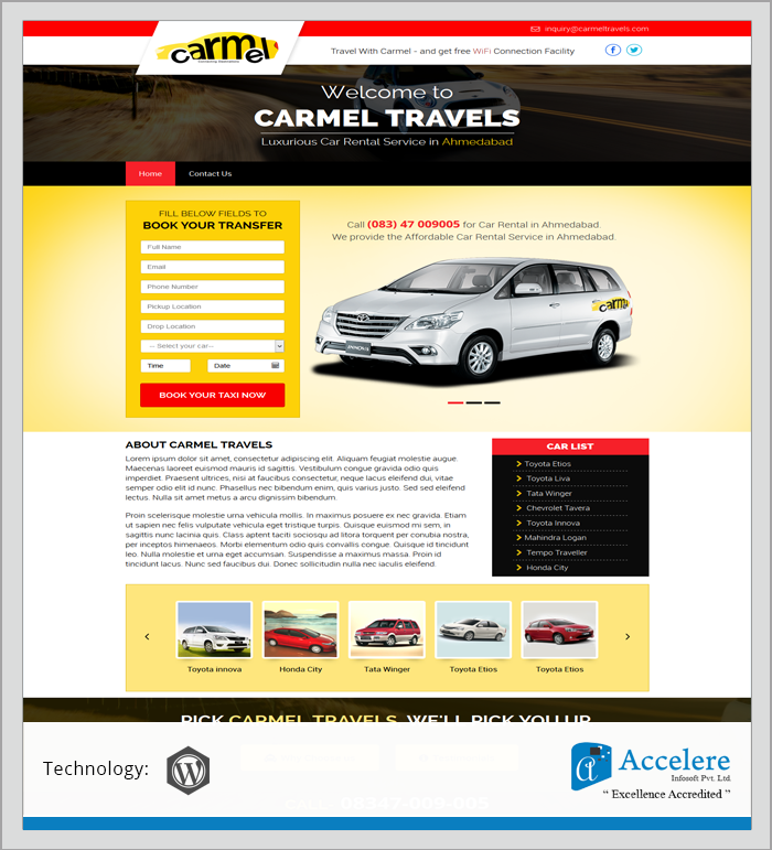 Carmel Travels - Portfolio